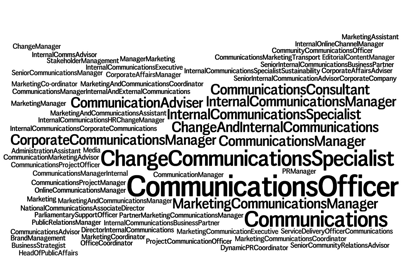 #internalcomms has many job titles