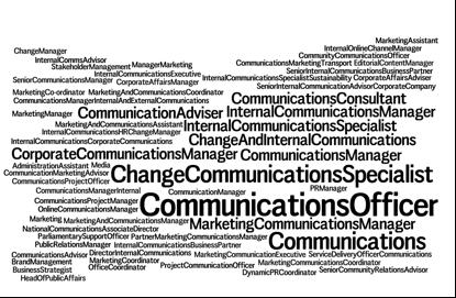 #internalcomms has many job titles